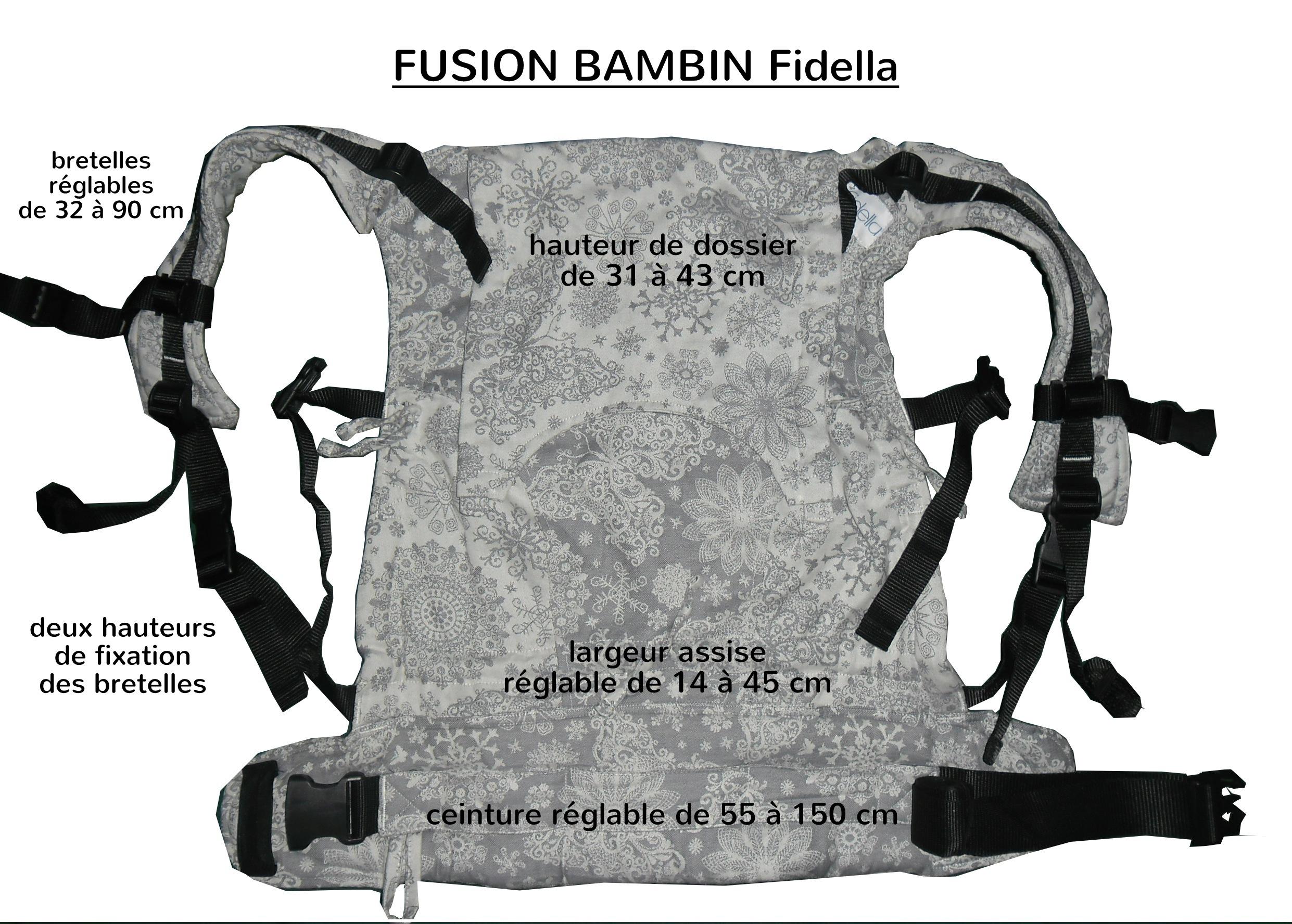 Fusion bambin Fidella dimensions