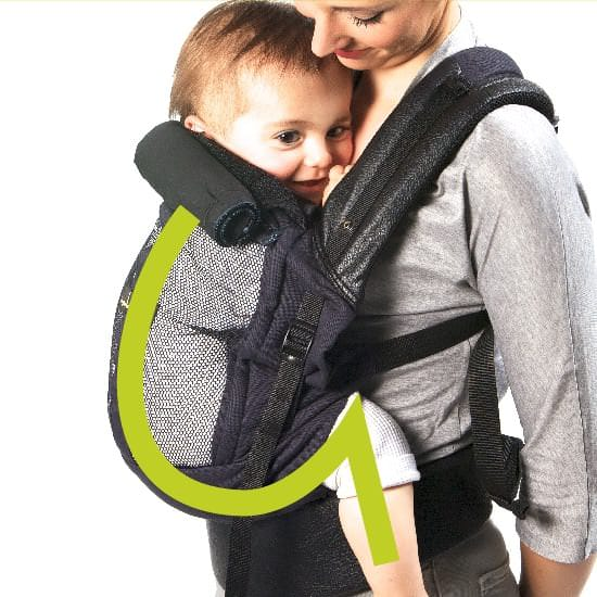 Pack Doorbébe Physiological Physiocarrier All Grey And Extension Of - Porte bebe physiocarrier