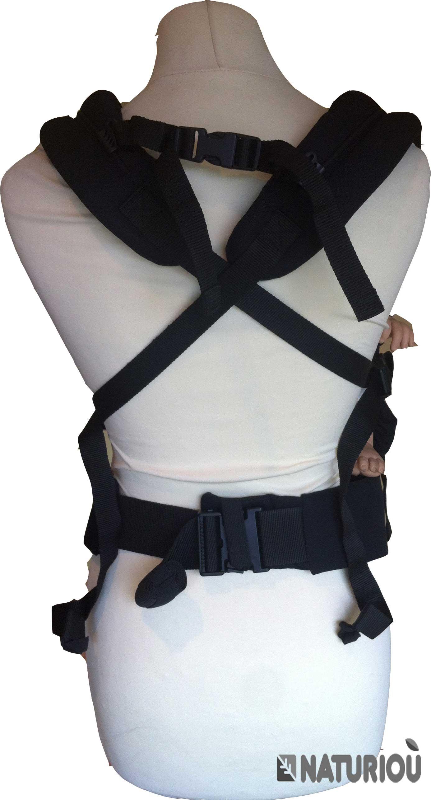 Portage bretelles croisées avec le PhysioCarrier