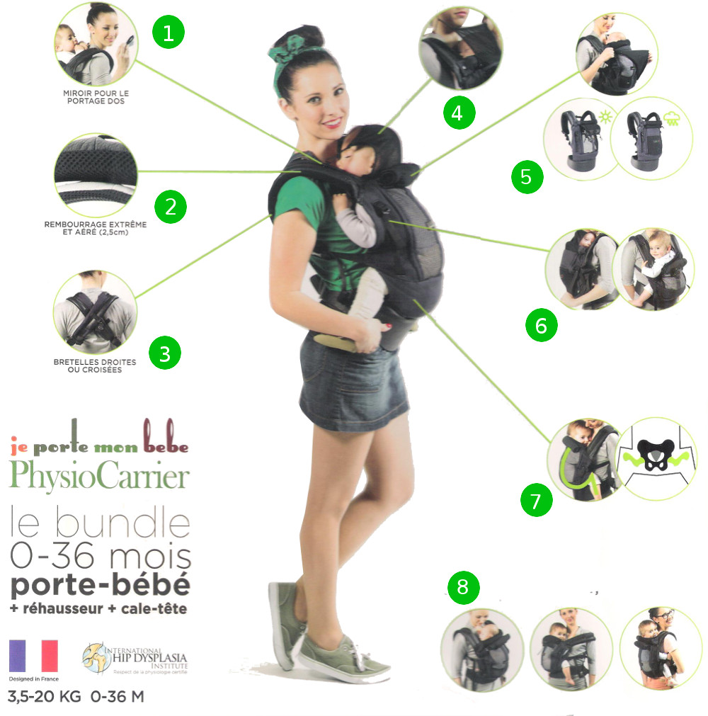 The Carrier Physiocarrier And The Booster Pack It Is Less Expensive - Porte bebe physiocarrier