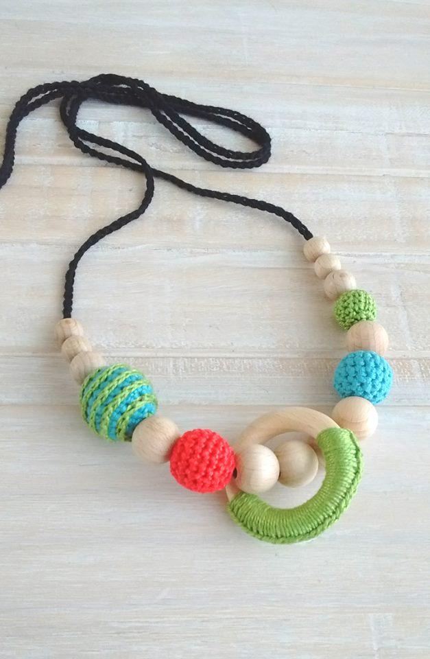 collier de portage avec perle torsadée