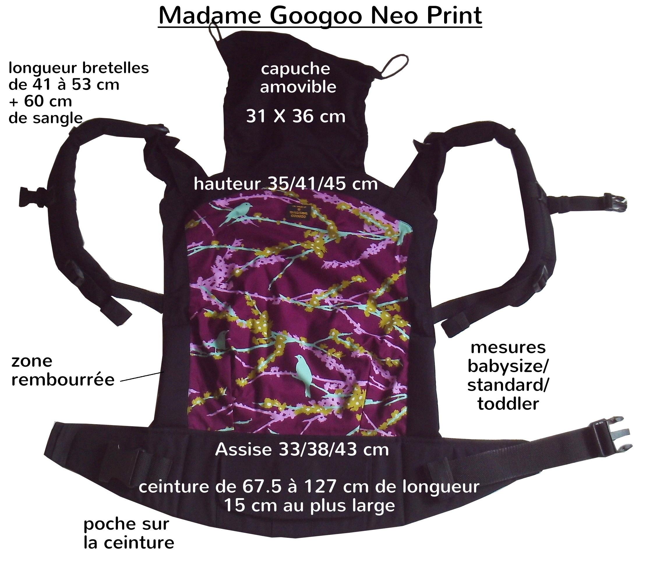dimensions Madame GooGoo Neo Print