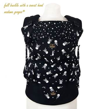 porte-bébé physiologique madame googoo classic full buckle skulls