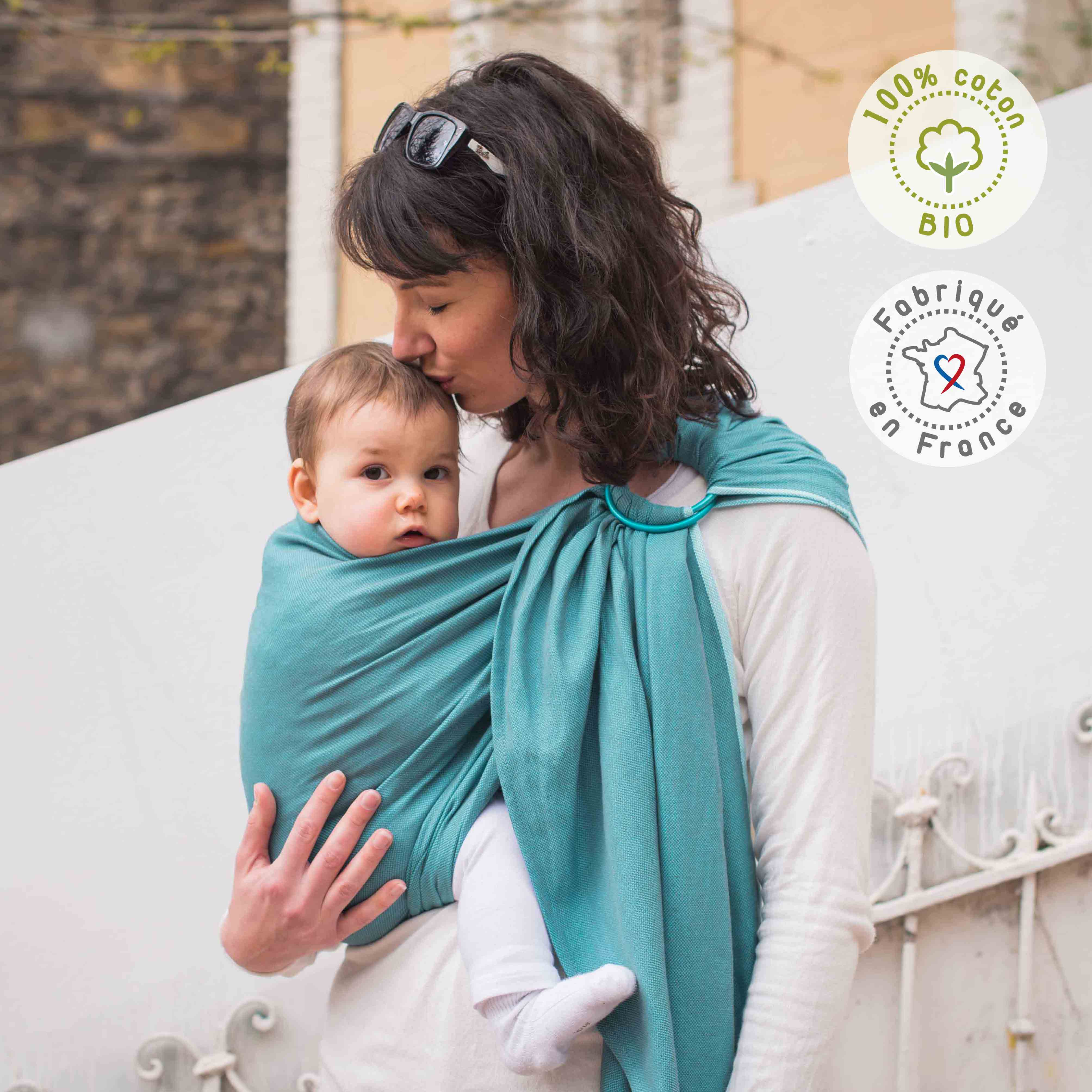 sling Néobulle coton bio Bleu Denim