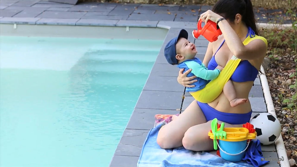 1a9f2f94bd2a Aquabulle blue Néobulle baby carrier booster aquatic
