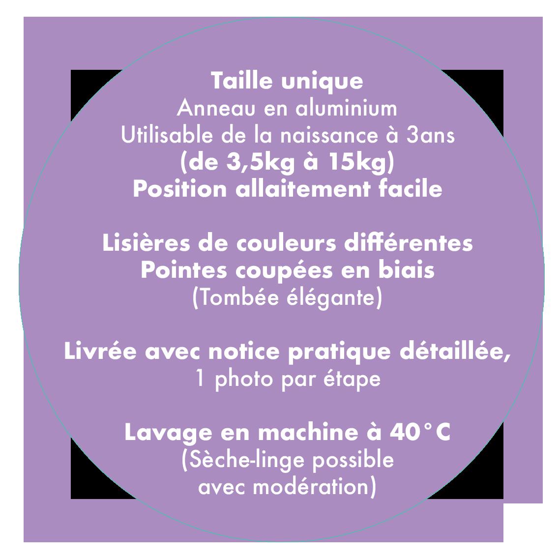 Néobulle sling dune or coton bio