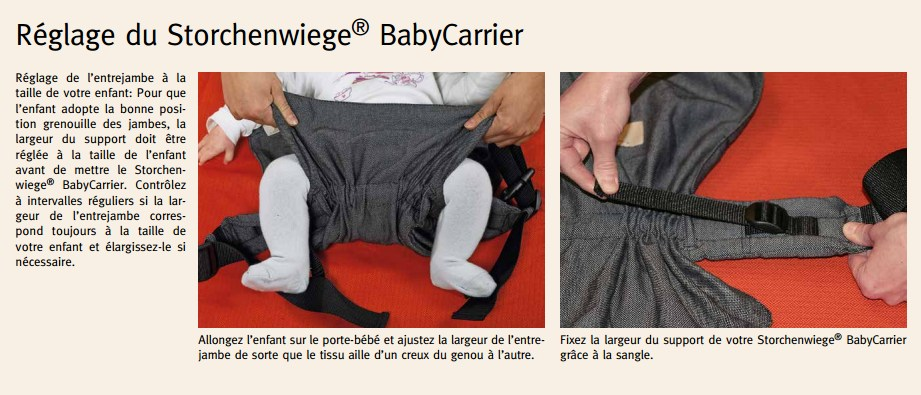 Porter sur le ventre votre bébé avec le Baby Carrier Storchenwiege edacde12bf7
