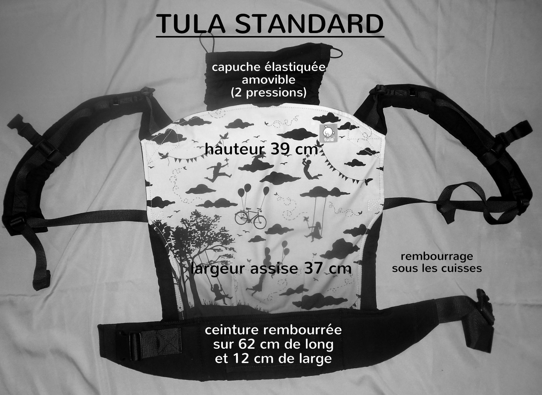 Tula standard babysize dimensions