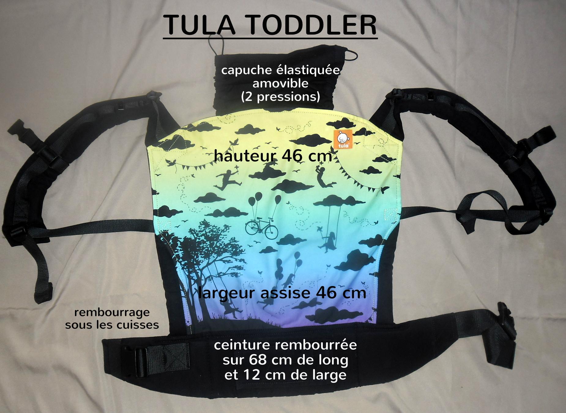 Dimensions du porte-bébé Tula toddler