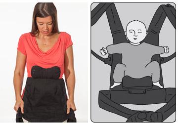 Boba 4g ergonomique et bebe en position physiologique