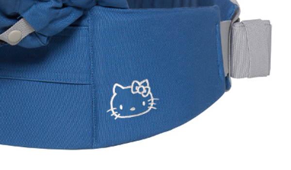 Logo Hello Kitty sur la ceinture de l'Ergobaby Adapt