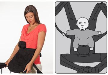 Position foetal dans le nouveau porte-bébé boba 4G