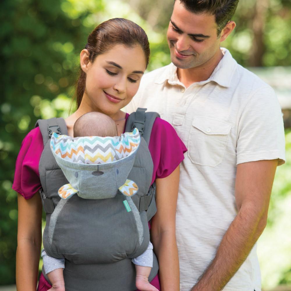 Notre avis sur la marque de porte-bébés physiologiques Infantino